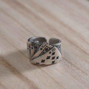 Anillos BALMORA 925 Sterling Silver juego de naipes