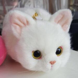 Bolso de felpa con diseño de gatito