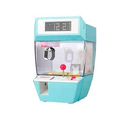 Catcher despertador máquina de juego operada por monedas azul