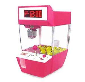 Catcher despertador máquina de juego operada por monedas rosado