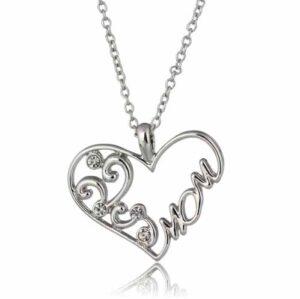 Colllar en plata forma corazón para mamás