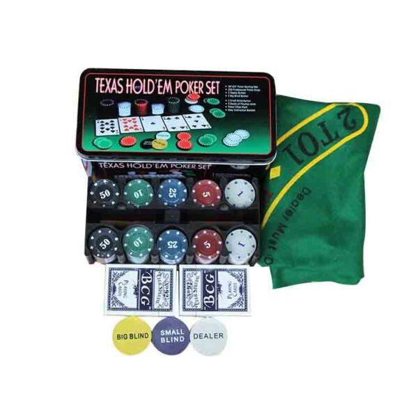 Deal-juego de póker de negociación con fichas
