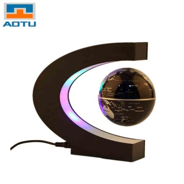 Decoración globo terraqueo antigravedad y luz LED