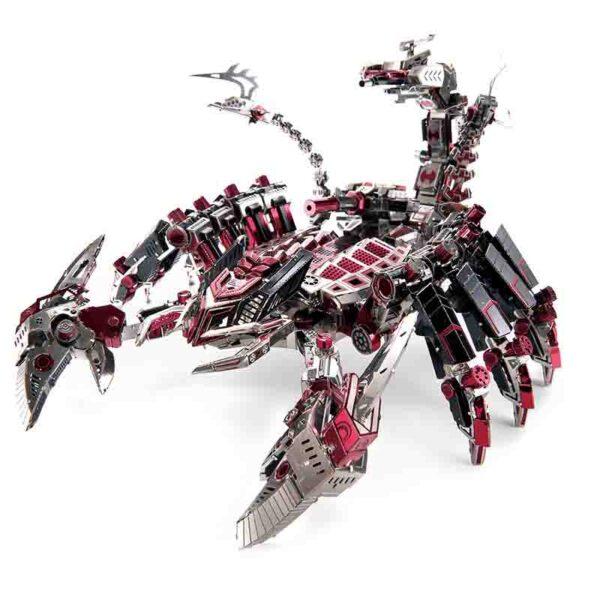 Escorpión robot metálico para ensamblar figura 3d