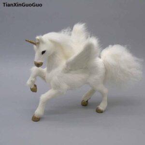 Figura decorativa unicornio blanco