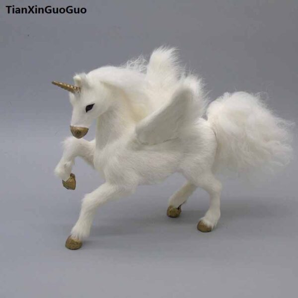 Figura decorativa unicornio blanco