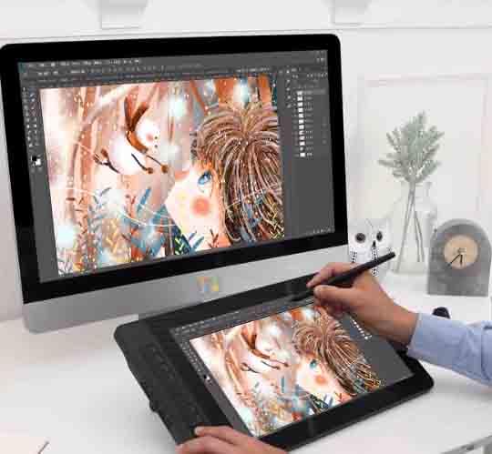 GAOMON PD1560 tableta para gráficos de arte, bolígrafo con sensibilidad