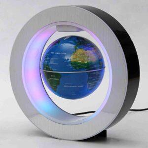 Globo mundo magnético con luz LED y levitación giratoria