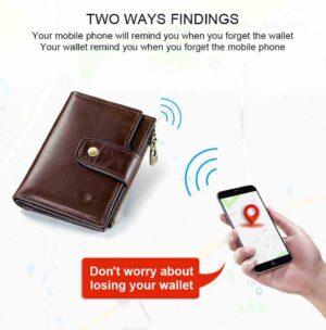 KAVIS cartera inteligente rfid con mapa GPS, alarma bluetooth