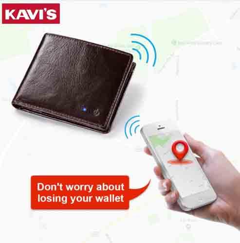 KAVIS nueva tecnología SMART Wallet RFID anti pérdida, bluetooth