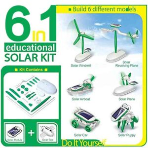 Kit de Robot de energía Solar 6 en 1