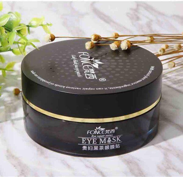 Máscara de té negro gel de colágeno para arrugas y ojeras