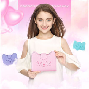 Notebook de cuero A6 de gato Kawaii