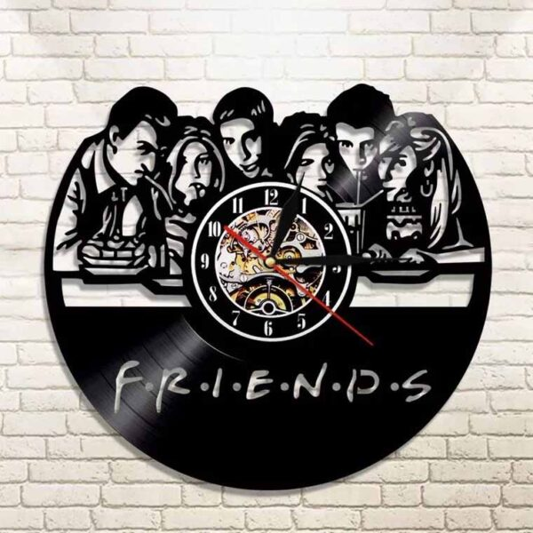 Nuevo diseño vinilo relojde la serie friends
