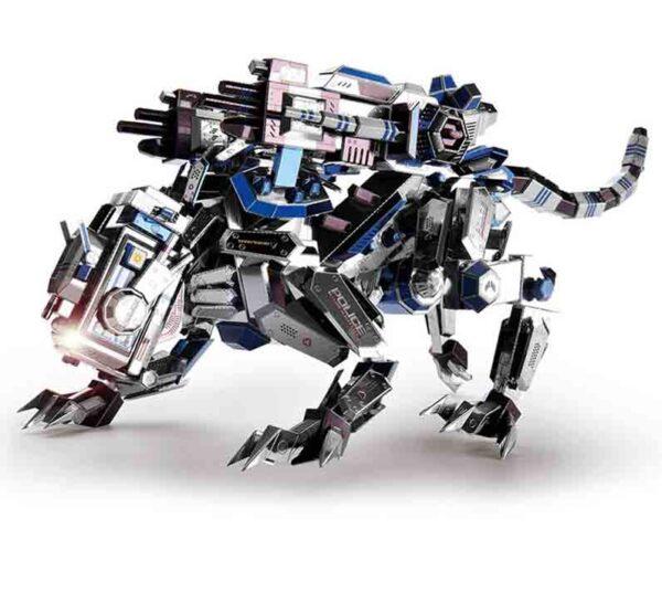Perro robot policía en metal para ensamblar