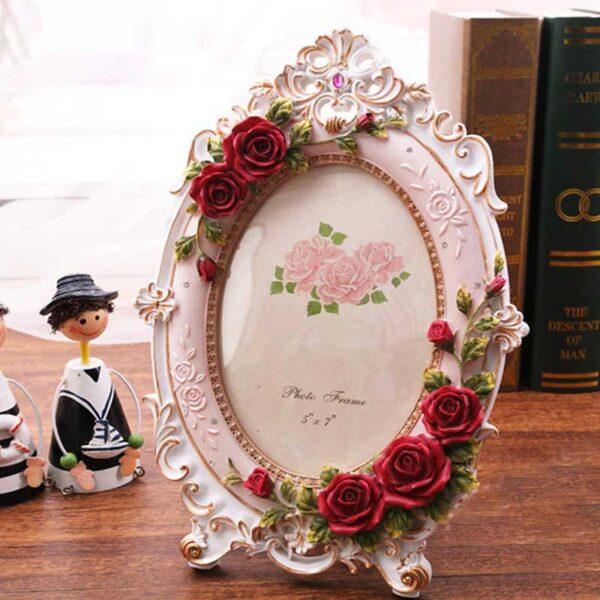 Porta retrato vintage estilo europeo ovalo