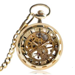 Reloj Vintage collar Steampunk esqueleto mecánico