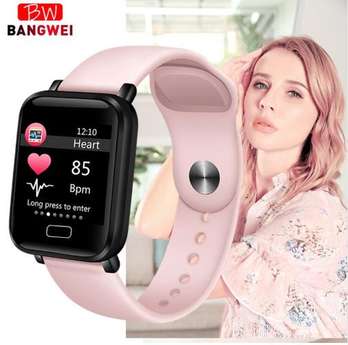 Reloj inteligente BANGWEI IP67 para deporte, impermeable, monitor ritmo cardíaco