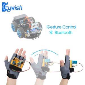 Robot inteligente para esamblar con control guante manual