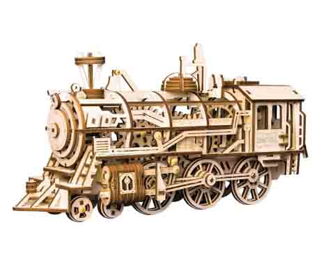 Robotime modelo locomotora mecánica rompecabezas 3D