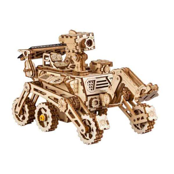 Robotime rompecabezas madera vehículo espacial movimiento con energía solar