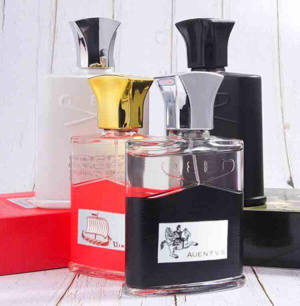 Spray botella de vidrio perfume hombres