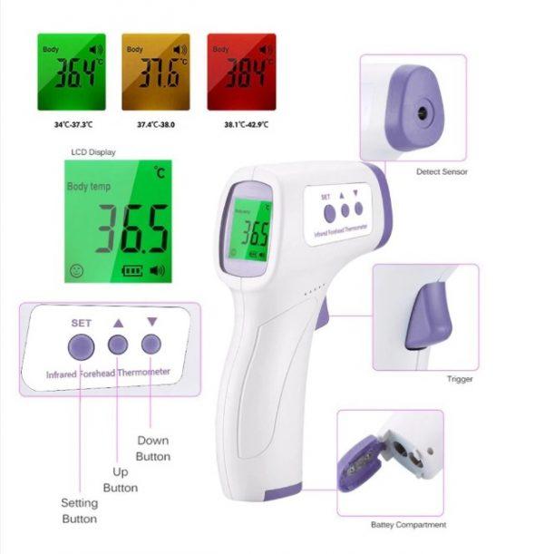 Termómetro digital infrarrojo