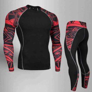 Traje deportivo de compresión, secado rápido de transpiración fitness MMA