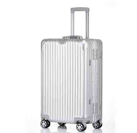 100% de aluminio completo 20'24'26'29' maleta de equipaje de viaje carrito rodante de mano dura llevar en maleta