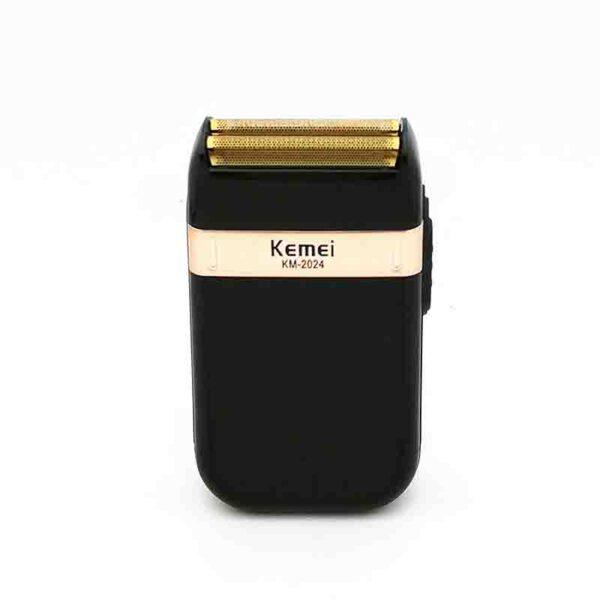 Afeitadora eléctrica Kemei para hombres doble hoja impermeable reciprocular USB recargable