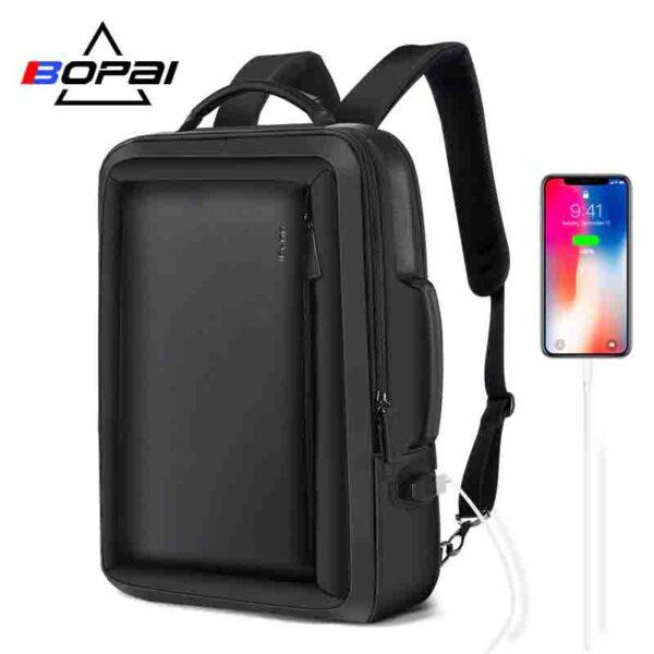 BOPAI mochila de negocios de viaje impermeable