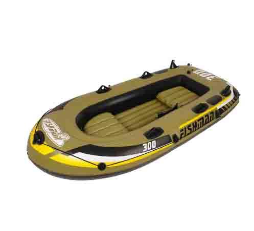 Bote de goma grueso hasta cuatro personas inflable kayak