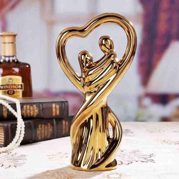 Cerámica en oro amantes casa decoración artesanías habitación