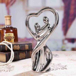 Cerámica en plata amantes casa decoración artesanías habitació