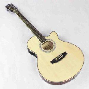 Guitarra acústica eléctrica cuerda de acero fino cuerpo plano
