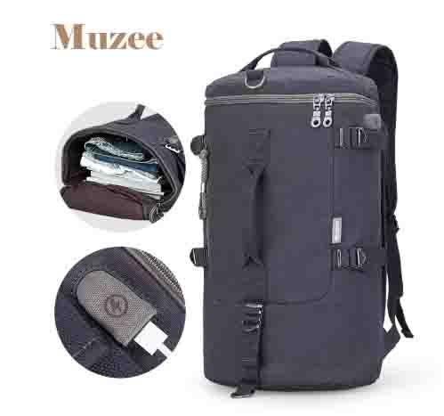 Mochila Muzee de alta capacidad para viaje bolsa de equipaje