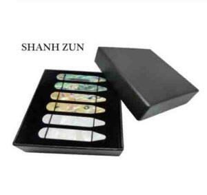 SHANH ZUN la madre de la perla huesos para camisa de vestir para hombre 3 pares