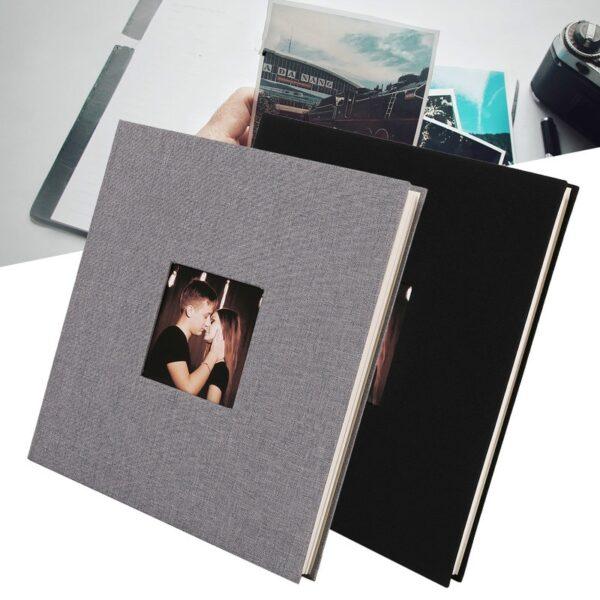 Cubierta de lino foto álbum para aniversarios de bodas de lino