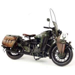 Decoracion en hierro moto retro