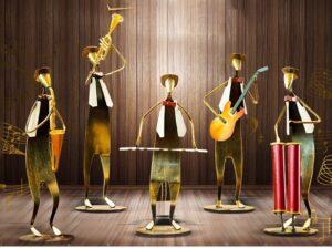 Figuras Decorativas De Musicos En Hierro