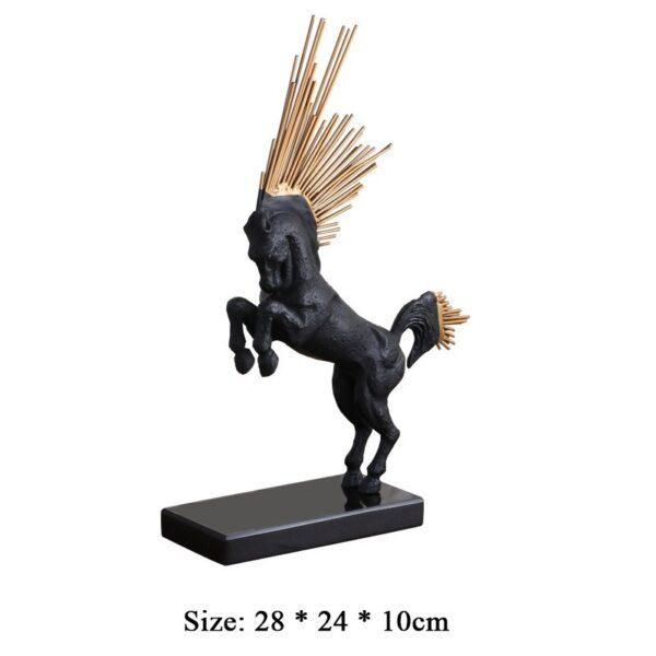 caballo decorativo en hierro