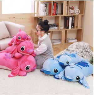almohadas de stitch y angel su novia
